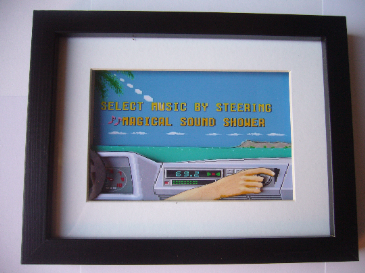 Outrun Magical Sound Shower 3D Diorama Shadow Box